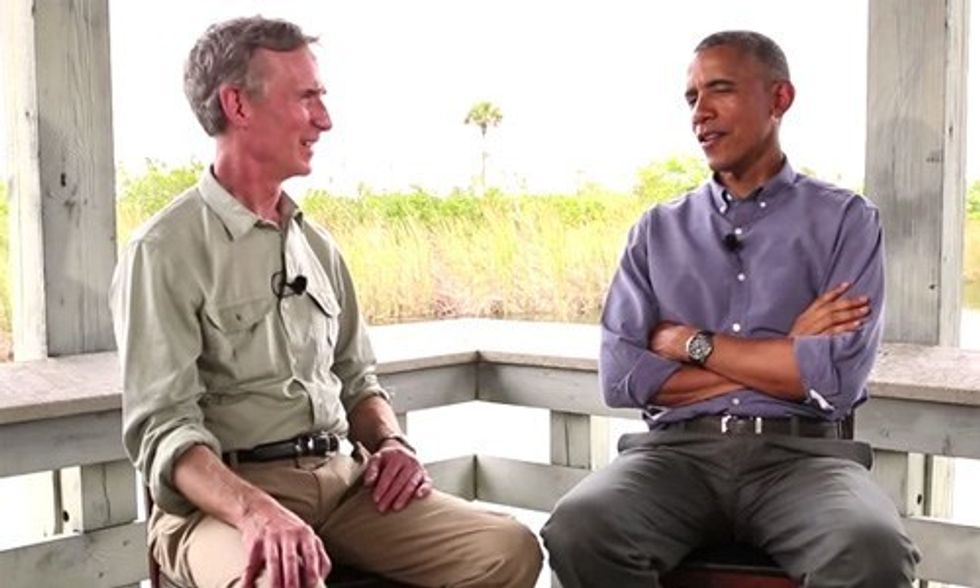 Watch Obama and Bill Nye Take on 'Climate-Denier Club' in Congress