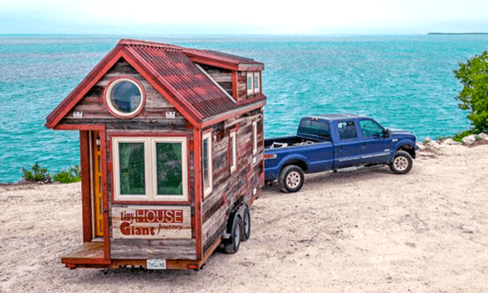 Tiny House on Wheels Provides 'Giant Journey' for Couple + Their Dog