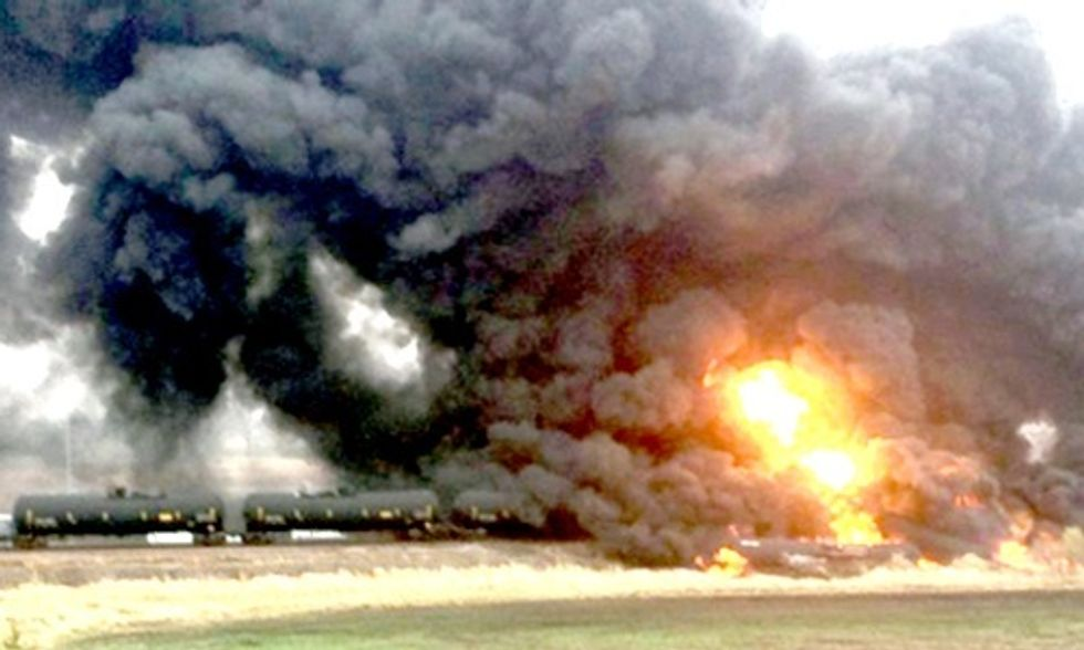 Yet Another Oil Bomb Train Explosion Proves New Regulations Fail to Protect Us