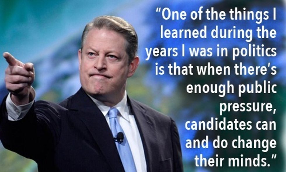 Al Gore: We Must 'Put a Price on Carbon' and on Climate 'Denial in Politics'