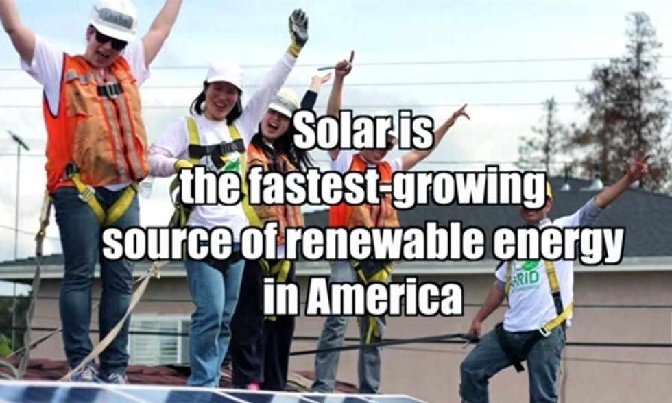 Solar Is the Fastest-Growing Source of Renewable Energy in America