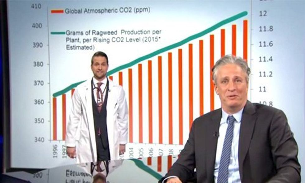 Jon Stewart: Climate Change to Blame for Allergies Getting Worse Each Year