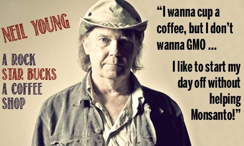 Neil Young Blasts Starbucks for Supporting Monsanto and GMOs in Rock Anthem