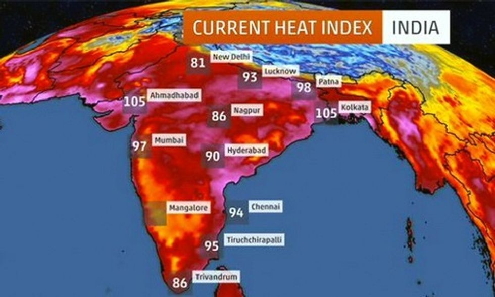 India Minister: Climate Change to Blame for 5th Deadliest Heat Wave in World History