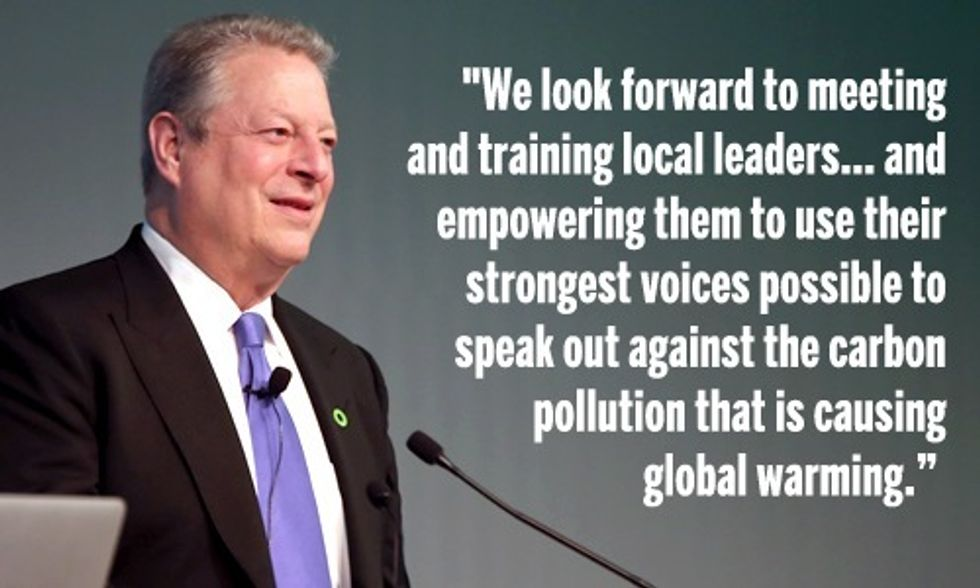 Al Gore to Lead Hundreds of Climate Reality Leaders in Canada