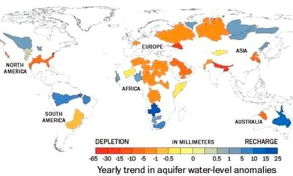 NASA: More Than One-Third of Earth's Largest Aquifers Are Being Rapidly Depleted