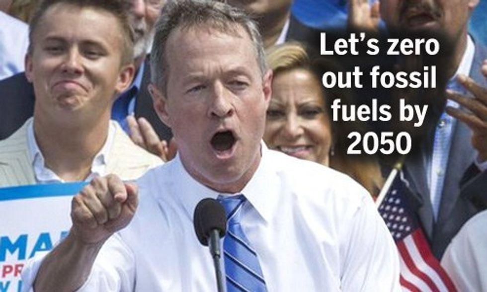 Presidential Candidate Martin O'Malley: We Can and Should Be 100% Powered by Renewable Energy by 2050