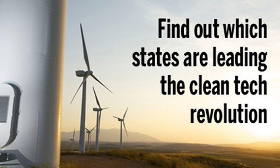 10 States Leading the Clean Tech Revolution