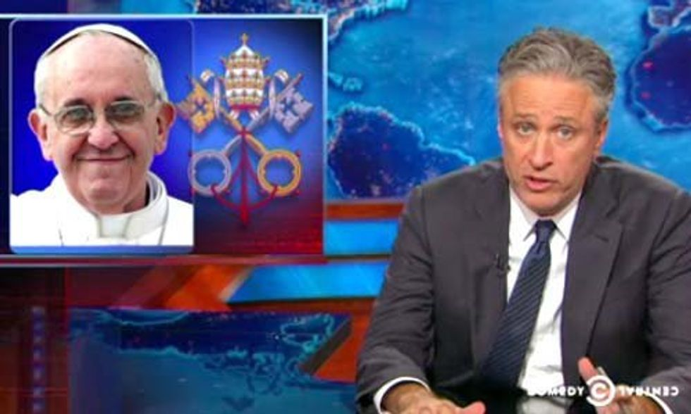 Jon Stewart Slams GOP for Criticizing Pope's 'Call for Environmental Consciousness'