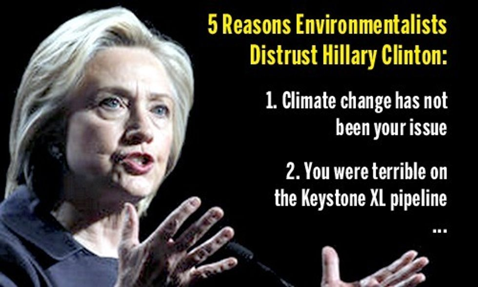 5 Reasons Environmentalists Distrust Hillary Clinton