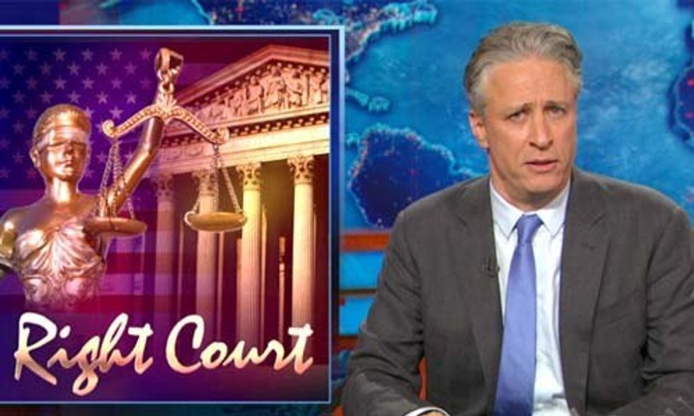 Jon Stewart Slams Conservatives and Supreme Court for Letting Big Business Win Again