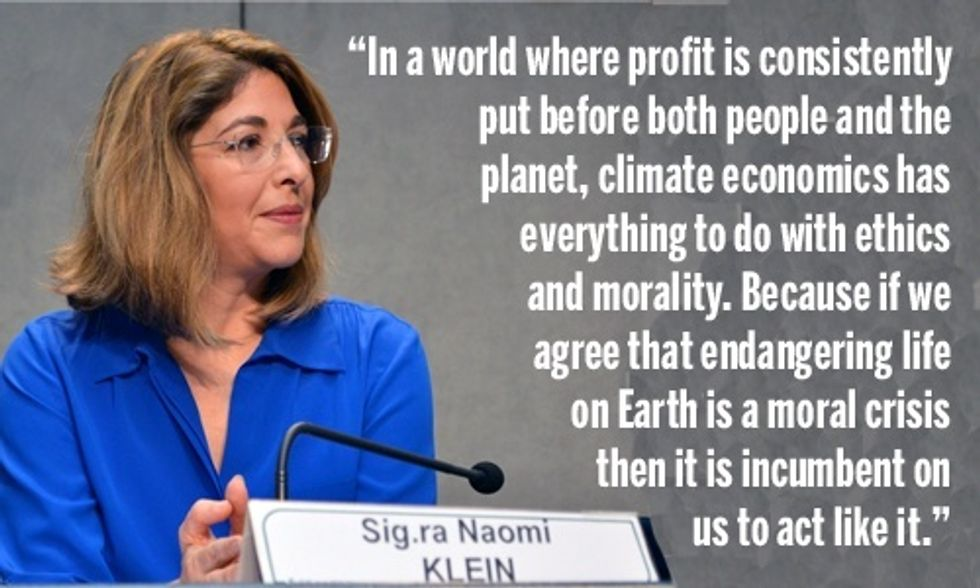 Naomi Klein: People and Planet First