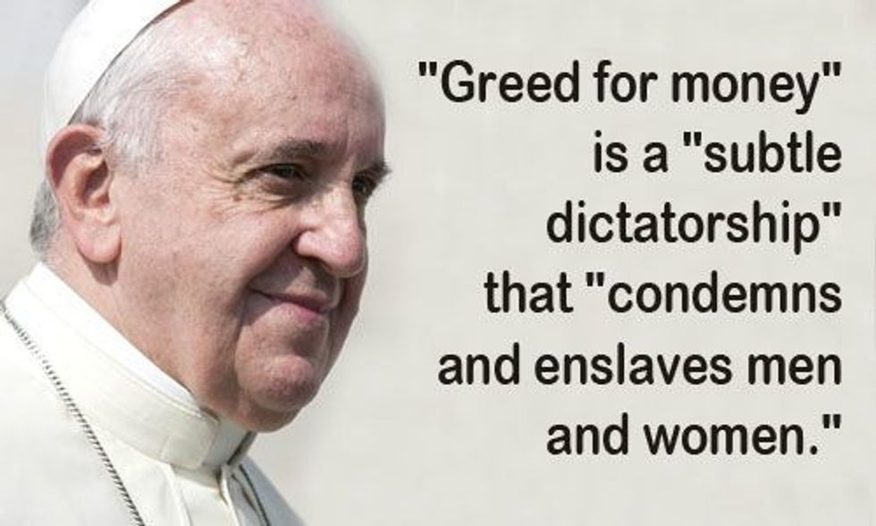 Pope Francis Tells World Youth to Rise Up Against Global Capitalism