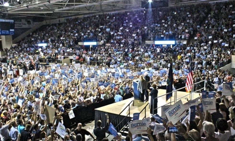 Bernie Sanders Draws Biggest Turnout for Maine Democratic Rally in 25 Years