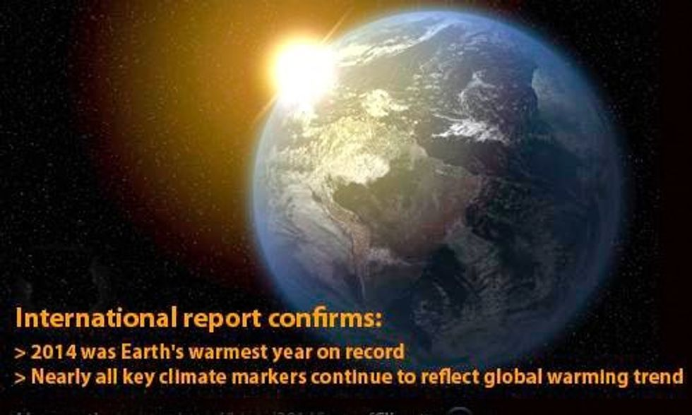7 Climate Records Broken in 2014 Indicates Earth Is 'Gravely Ill'