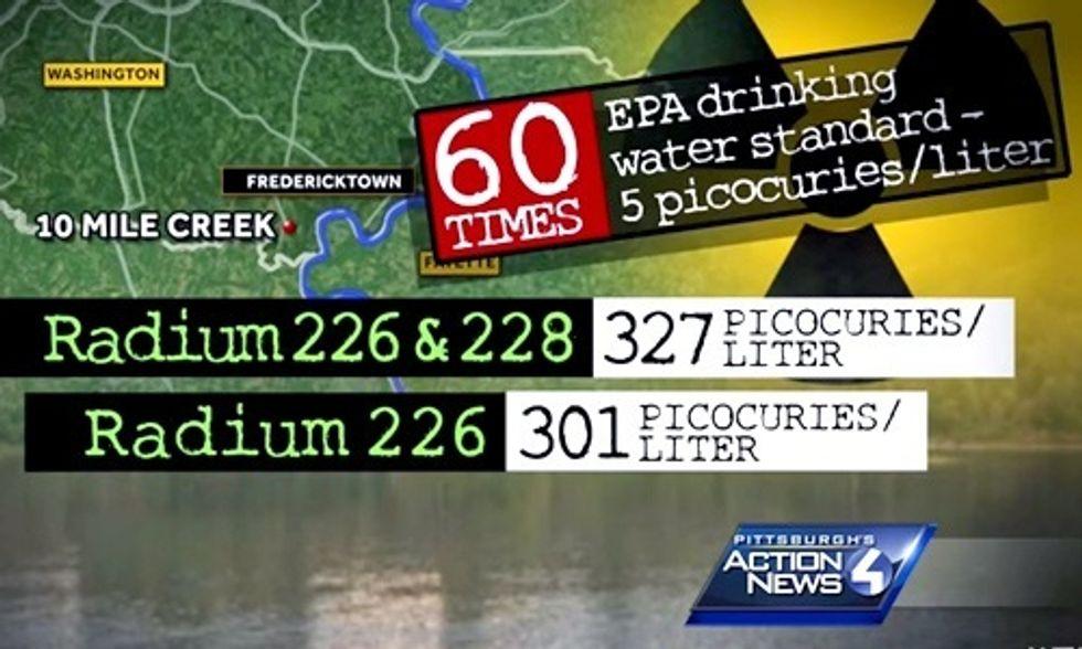 High Levels of Radium Found in PA Stream Near Drinking Water Supply