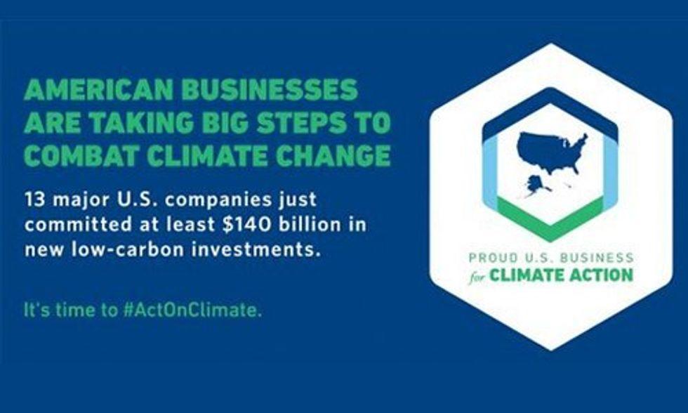 13 Top U.S. Companies Pledge $140 Billion to Slash Carbon Emissions