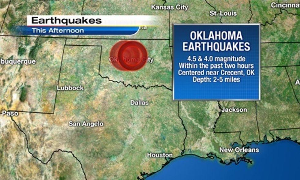 40 Earthquakes Hit Frack-Happy Oklahoma in Last 7 Days
