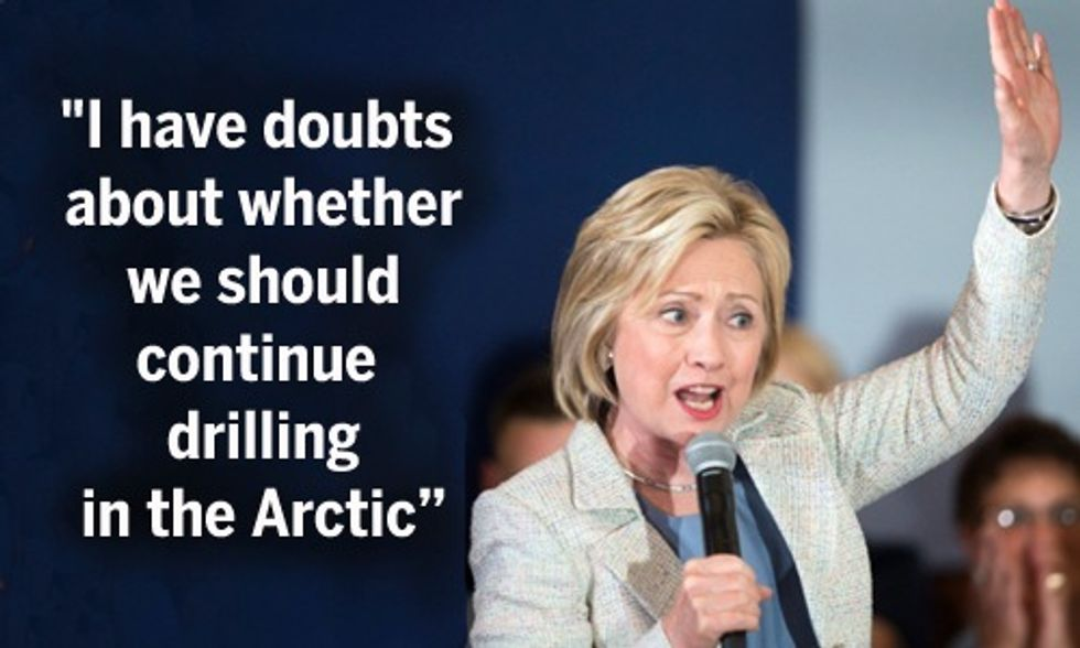 Hillary 'Skeptical' of Obama's Plans to Allow Oil Drilling in the Arctic