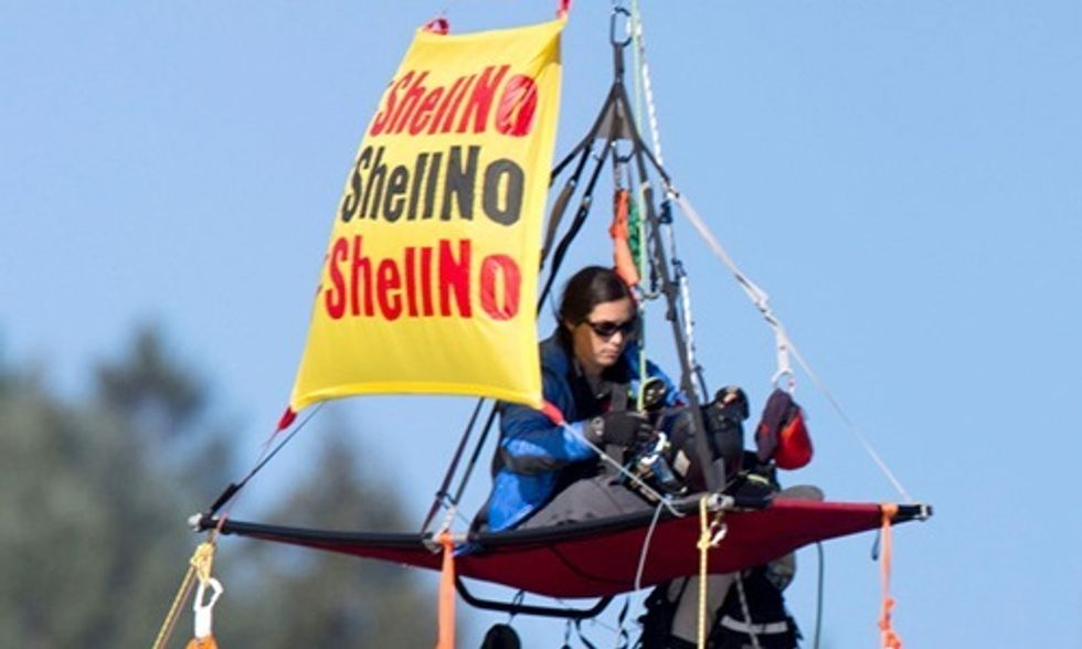 4 Videos Explain Why 13 People Would Hang From a Bridge to Say 'No Arctic Drilling'