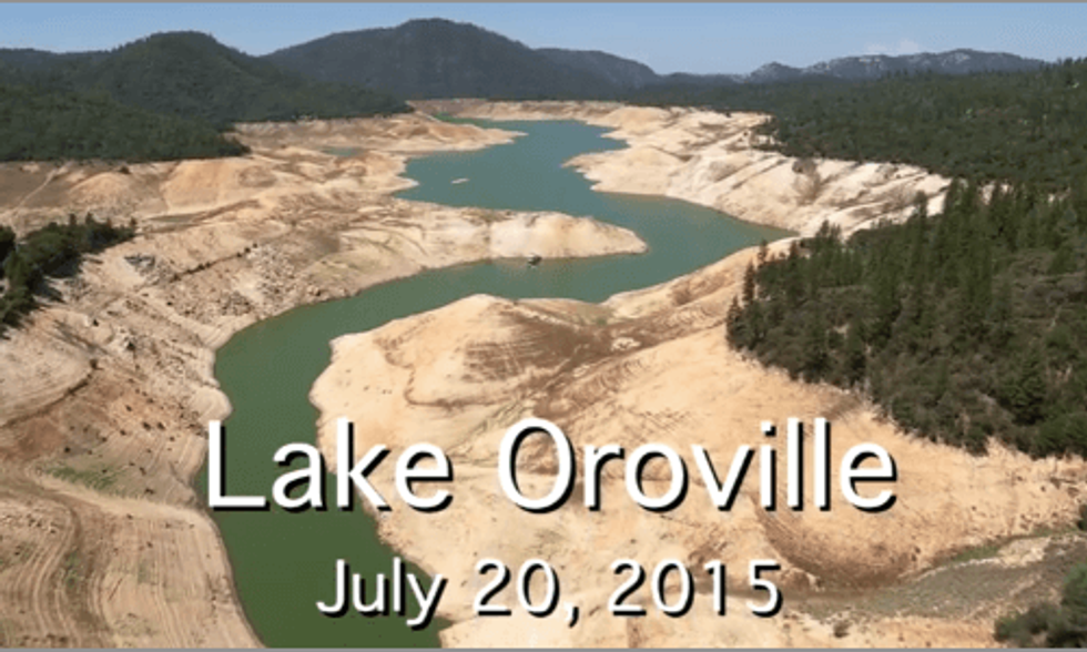 Startling Footage of California Reservoirs Shows Devastating Impact of Epic Drought