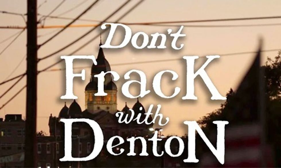 'Don't Frack With Denton'