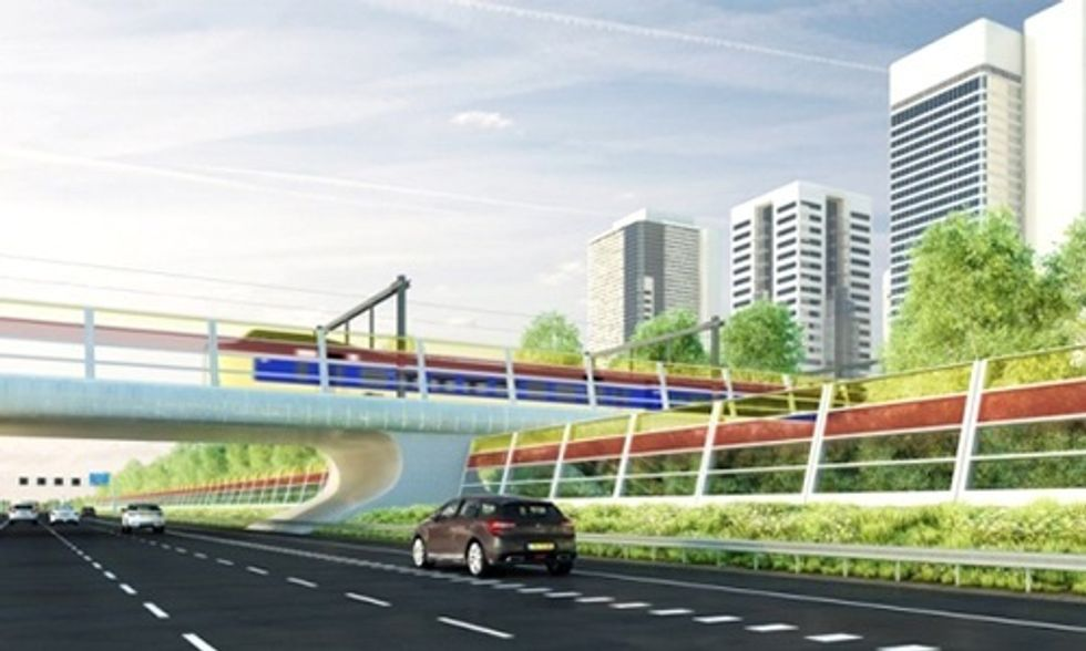 Solar-Powered Noise Barriers Quiet Traffic While Generating Electricity