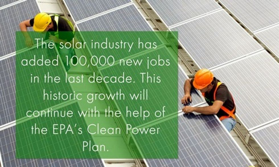 Solar Is Driving America Toward Its 'Clean Power Plan'