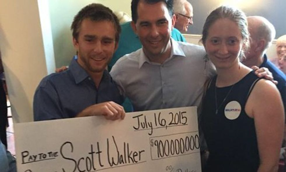 Scott Walker Punked With $900M Check From Koch Brothers
