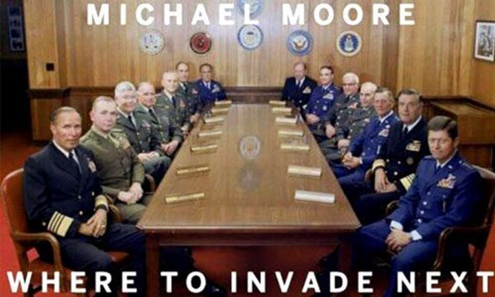 Watch Michael Moore Announce His New Documentary 'Where to Invade Next'
