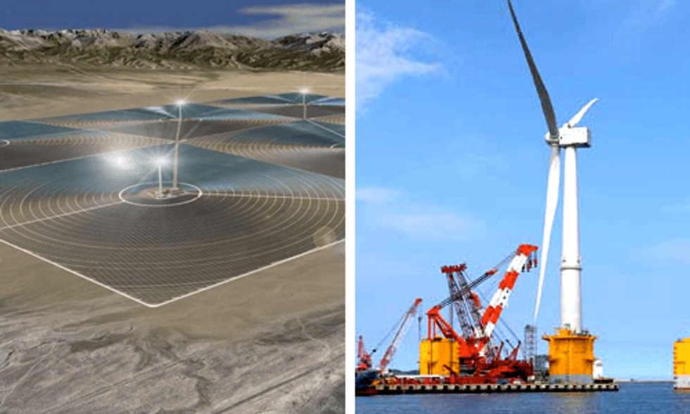 World's Largest Solar Project and Floating Wind Turbine Signal Global Shift to Renewable Energy