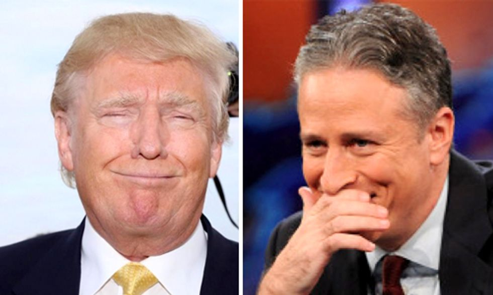 Trump's Website Hacked to Write a Thank You Note to Jon Stewart