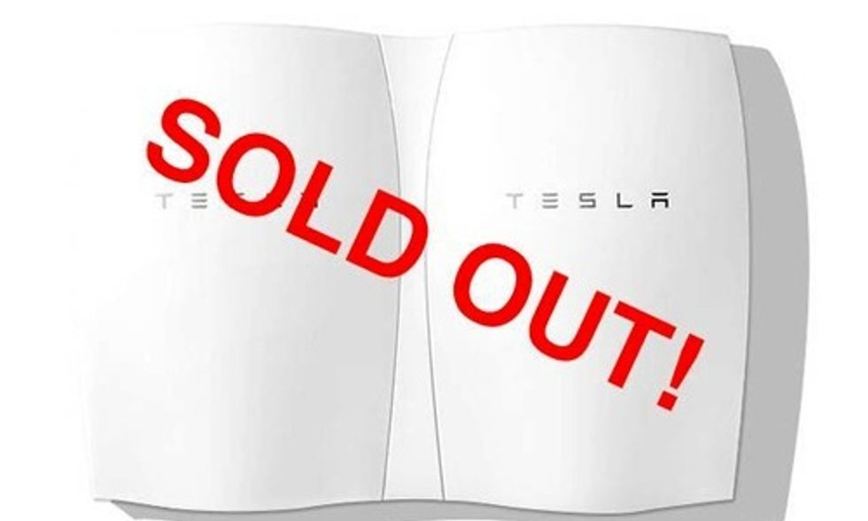 Elon Musk's Tesla Battery So Popular It Sold Out Through 2016