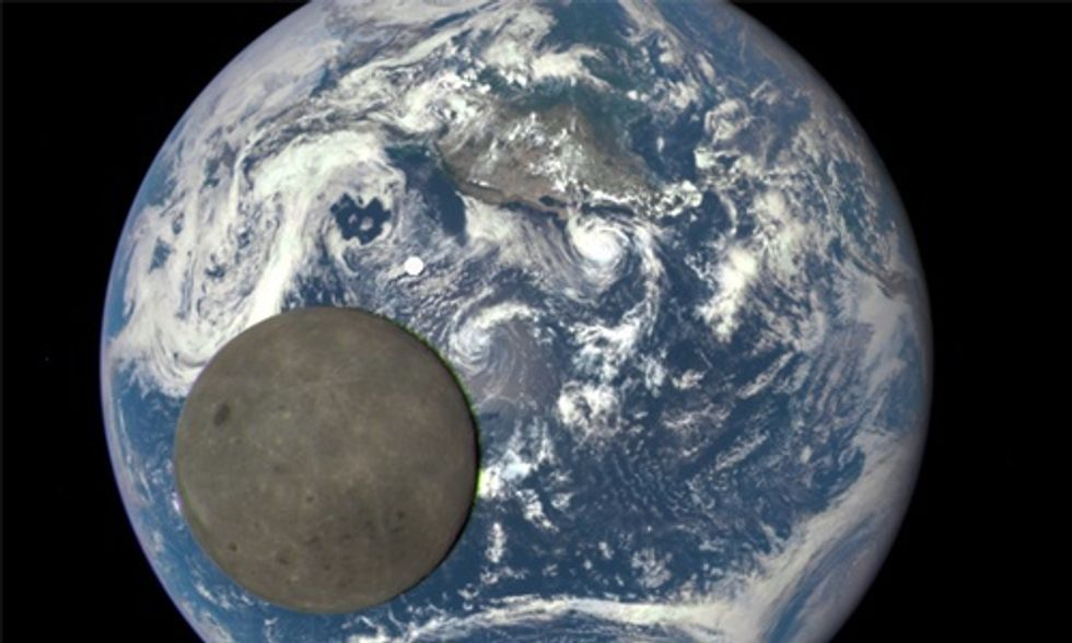 NASA Captures 'EPIC' Image of the Dark Side of the Moon