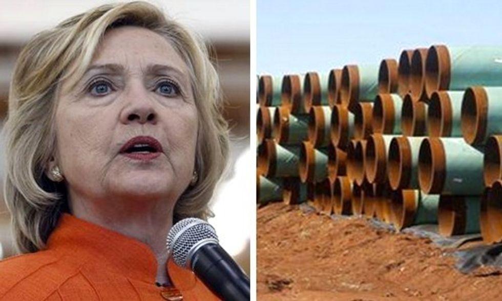 Hillary Clinton's Keystone XL Crisis