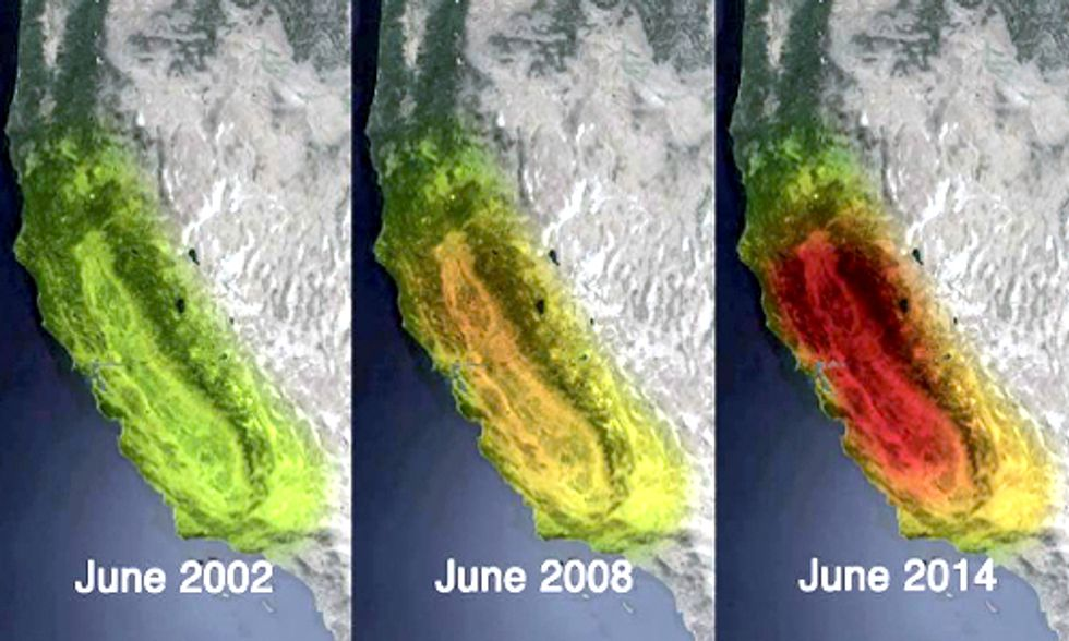 NASA Satellite Images Reveal Shocking Groundwater Loss in Drought-Stricken California
