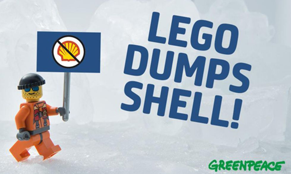 Victory for Greenpeace Campaign as LEGO Dumps Shell Oil