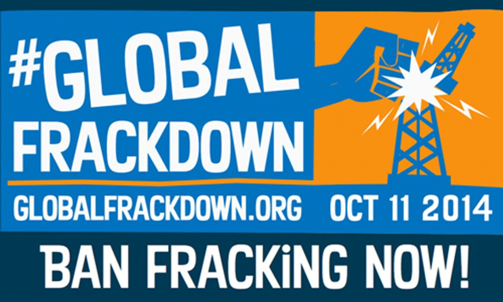 Global Frackdown on Saturday Calls for Worldwide Ban on Fracking