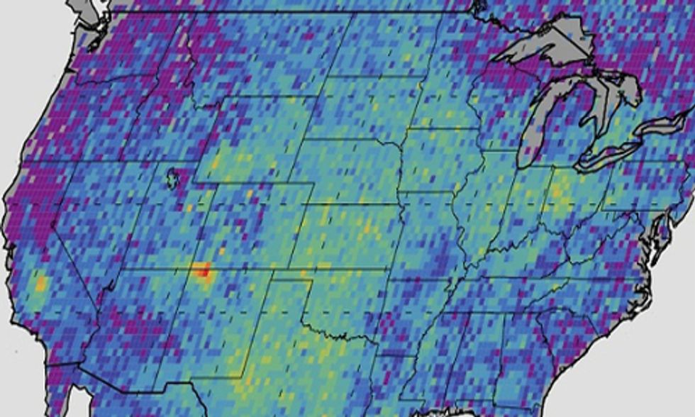 Massive Methane Hot Spot Detected by Satellite