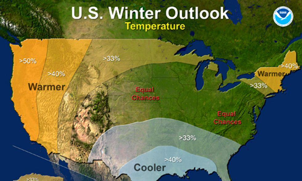 NOAA Winter Outlook: California Drought Will 'Intensify,' Polar Vortex II 'Unlikely'