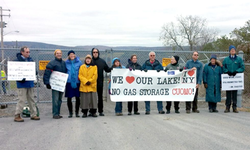 12 People Blockade Entrance to Compressor Station Protesting Methane Gas Storage Project