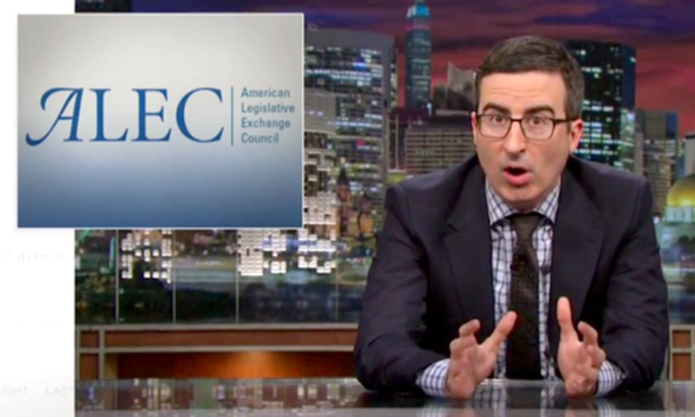Must-See: John Oliver Takes on ALEC