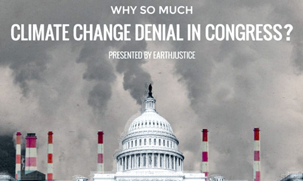 Why So Much Climate Denial in Congress? Follow the Money