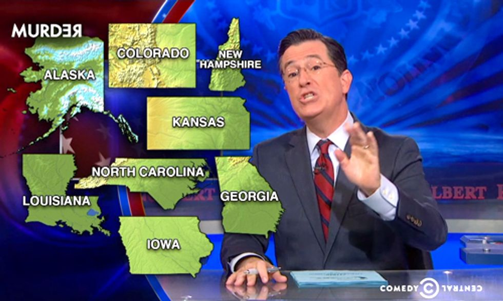 Watch Colbert's 'Mid-Portant' Election Roundup