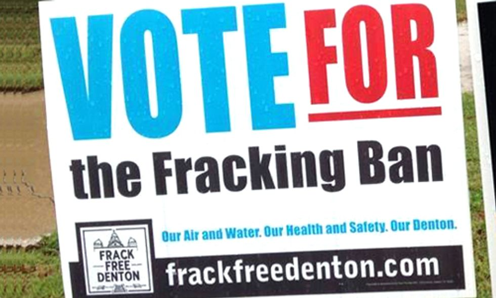 Fracking Bans Pass in Denton, Texas, Two California Counties and One Ohio Town
