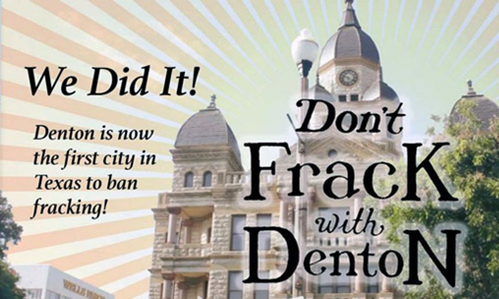 Denton, Texas Fracking Ban Under Attack by Bush Family Inner Circle