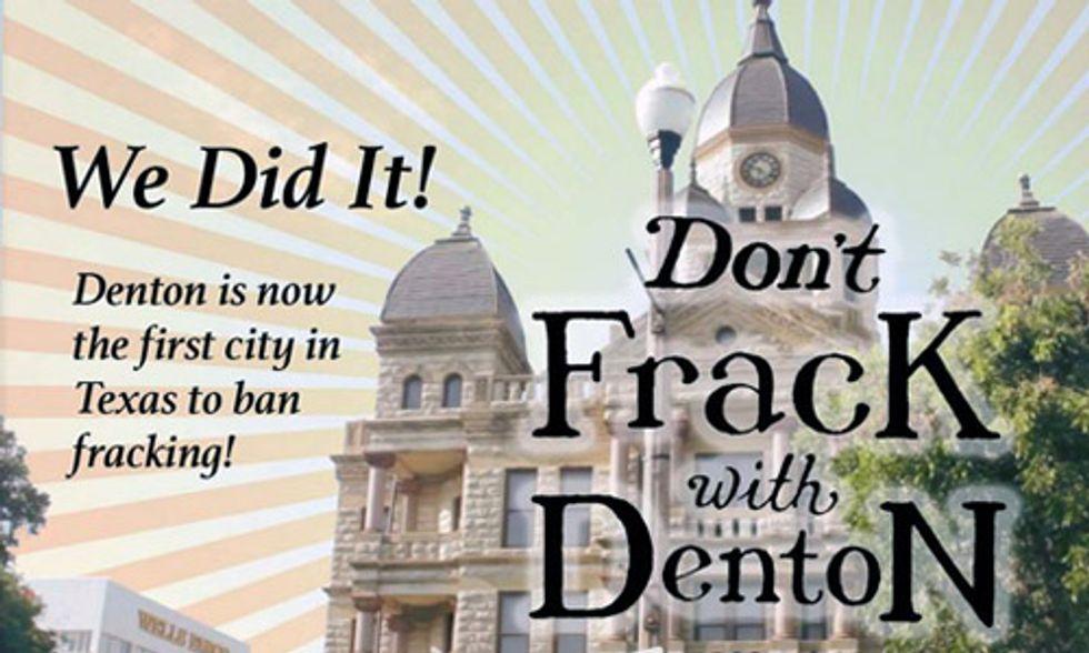 Denton, Texas Fracking Ban Under Attack by Bush Family Inner Circle