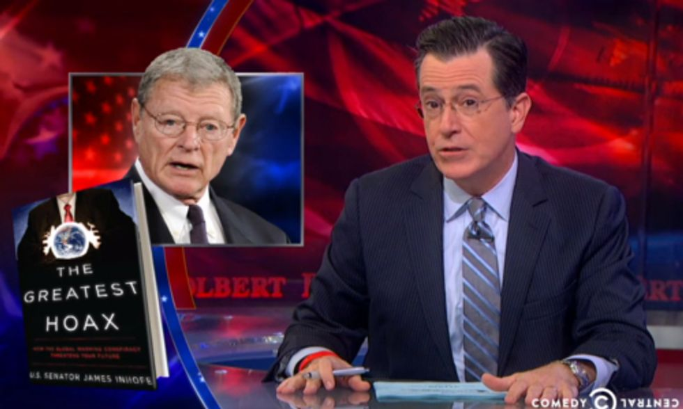Watch Colbert Shame GOP Climate Deniers: 'I am Not a Scientist'
