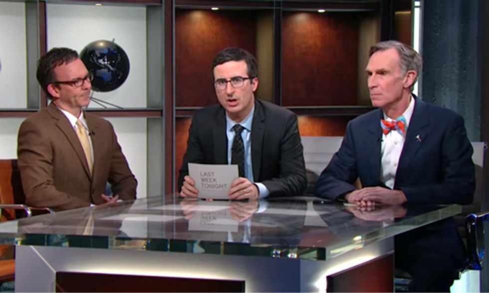 John Oliver and Bill Nye Put the Climate Change Debate to Rest