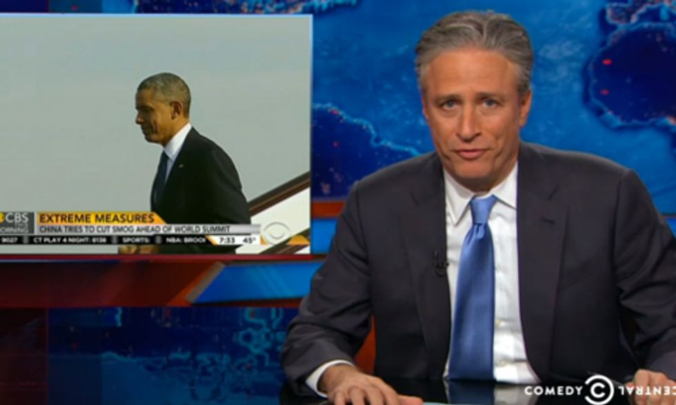 Jon Stewart Shows Why Climate Change Deal for China Can't Come Soon Enough